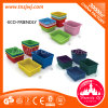Colorful Teaching Aid Basket Plastic Storage Basket for Kindergarten Classroom