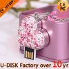 manier Jewelry Pink hart-Shaped USB Flash Drive (yt-6263L)
