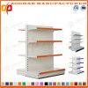 Doppia scaffalatura parteggiata d'acciaio del supermercato della visualizzazione personalizzata 4 file (Zhs513)