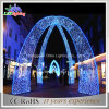 L'indicatore luminoso di natale blu LED illumina gli indicatori luminosi dell'arco