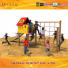 Kind-Spielplatz-rotes Haus Climber&Slide (PE-04601)