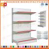 Singola scaffalatura di parete d'acciaio personalizzata parteggiata Manufactured del negozio del supermercato (Zhs590)