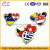 2016 abitudine Different Shapes del Pin Badge di Metal Flag dei paesi di Different