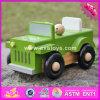 Coche de madera al por mayor de 2017 juguetes de los niños, coche de madera de los juguetes de los niños del mejor jeep del diseño, coche de madera W04A326 de los juguetes de los niños de la venta caliente