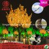 Luz da árvore de bordo da palma do diodo emissor de luz do amarelo 220V 12V do Natal do diodo emissor de luz para a decoração Home do jardim
