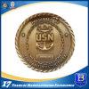 Pièce de monnaie en laiton antique d'enjeu du souvenir 3D avec le bord de corde (Ele-C005)
