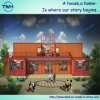 Nuevamente departamento de la casa del envase de la estructura de acero del diseño