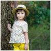 100% brevi abbigliamenti delle ragazze dell'abito dei bambini del manicotto del cotone