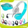 Écouteur parfait personnalisé coloré bleu-clair de musique d'effet sain de logo