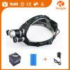 800 Lumesn 재충전용 3개의 LED 정면 플래쉬 등 LED 사진기 Headlamp