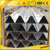 Ángulo de aluminio del triángulo de aluminio de Custmoized para el material de construcción