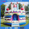 Castillo inflable de la gorila de la torta para la fiesta de cumpleaños de los niños