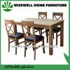 Eichen-Holz, das Möbel-hölzernen Tisch-und PU-Sitzstuhl speist