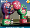 2015 новое Inflatable Christmas Decorations, СИД Inflatable Candy Gingerbread Arch для Yard Decoration