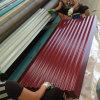 Évaluer a de feuille en acier galvanisée enduite d'une première couche de peinture de toiture