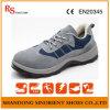 Construção de sapatos de segurança de couro genuíno