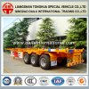 3 Fuwa Axles 40FT Container Yellow Skeletal Semi-Trailer