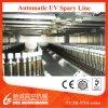 Línea ULTRAVIOLETA automática de la pintura a pistola para la máquina de cristal de la vacuometalización