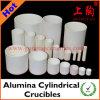 Crogioli cilindrici vari dell'allumina del materiale & di formato
