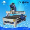 3 kombinierte Spindeln hölzerne CNC-Fräser-Maschine mit 3 Bit-Installationssatz-Ausschnitt-Hilfsmitteln verwendet für hölzerne Türen, Möbel, Küche-Schrank