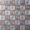 스테인리스 유리제 모자이크, 다이아몬드 수정같은 모자이크, 금속 모자이크