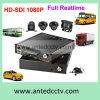 Solution mobile de DVR avec 4 l'appareil-photo GPS 3G/4G de rail de véhicule de véhicule de la Manche 1080P