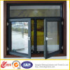 Graues Farben-Flügelfenster-Aluminiumfenster