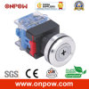 Onpow 30mm B Type Key Switch (LAS0-K30-11YB/21, Ce, CCC, RoHS)