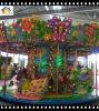 Carrousel de 18 sièges en forêt avec éclairage et balade d'amusement de musique
