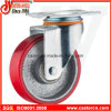 5 Inch Medium Duty Swivel PU Caster mit Cast Iron Hub
