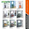 Vanité en verre de salle de bains de bassin de support autonome d'acier inoxydable d'Onsen