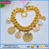 Kundenspezifisches Qualitäts-Goldschmucksache-Metallcharme-Armband