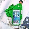 Caja del teléfono celular de silicio del cacto de la planta verde para el iPhone 5/6/6plus