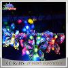 Luz de hadas solar de interior y al aire libre de la luz del día de fiesta de la luz de la decoración del banquete de boda de la Navidad de la batería de la mariposa LED de la cadena