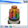 4 câble blindé de courant électrique de bande en acier de gaine de PVC d'isolation des noyaux XLPE