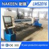 Máquina de estaca de aço do CNC do pórtico novo