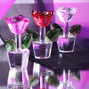 Cheap personalizado Crystal Glass Rose Flower para Souvenirs