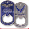 Custom U. S Air Force Military Metal Bottle Opener Coin
