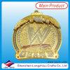 3D金の王冠のワシメダルは遊ばすダイヤモンド(lzy-201300241)が付いているメダルを