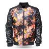 Куртка PU стильных людей 1153b передних и заднего бомбардировщика печатание кожаный