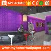 Fournisseur pourpre romantique coloré de papier peint de l'intérieur 3D pour le bureau