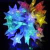 Шнур рождества декоративный солнечный освещает сформированный звездой свет СИД солнечный