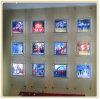 Стена фотоего вися светлые панели с вися проводами (A4)