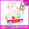 2015 neues Push Cart Balance Wooden Baby Walker, Multifunction Popular Car Design Baby Walker, Baby Walker mit Four Wheels W16e037