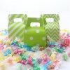 Caja del caramelo del diseño del color verde para el carnaval