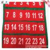 Calendario di Advant stampato abitudine della decorazione di natale