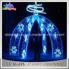 Arco decorativo do diodo emissor de luz do Natal do arco da rua com luzes do floco de neve