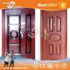 Porte blindée de Bois-Acier de portes de garantie d'acier inoxydable pour la maison, appartement