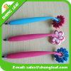 Stylos mous en caoutchouc de décorations de PVC de fleur