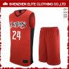 Modèle uniforme du Jersey de basket-ball rouge fait sur commande de Philippines
